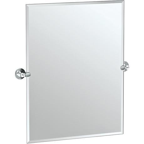 "Gatco Cafe Chrome 27 1/2"" x 31 1/2"" Rectangle Vanity Mirror"