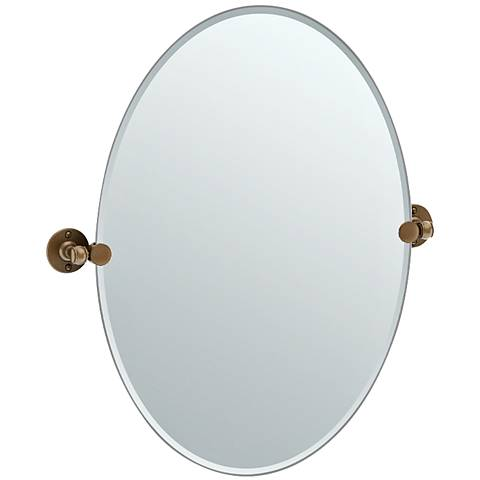 "Gatco Cafe Bronze 24"" x 26 1/2"" Oval Vanity Mirror"