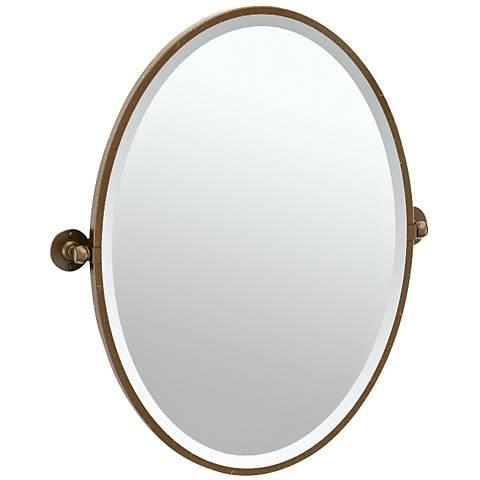 "Gatco Cafe Bronze 24 1/4"" x 27 1/2"" Oval Vanity Mirror"