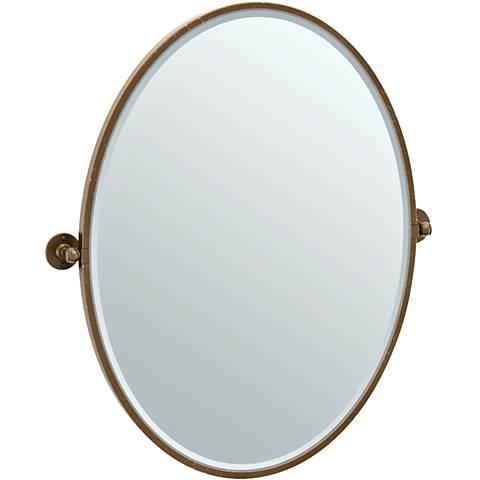 "Gatco Cafe Bronze 28 3/4"" x 33"" Framed Oval Vanity Mirror"