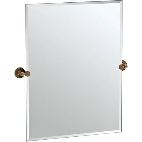 """Gatco Cafe Bronze 27 1/2"""" x 31 1/2"""" Rectangle Vanity Mirror"""