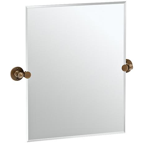 "Gatco Cafe Bronze 23 1/2"" x 24"" Rectangular Vanity Mirror"