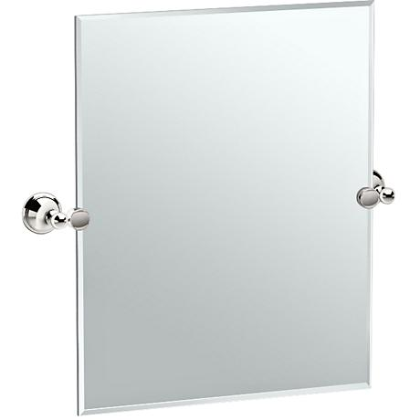 "Gatco Laurel Polished Nickel 24 3/4"" x 24"" Vanity Mirror"