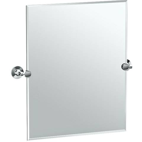 "Gatco Max Chrome 23 1/2"" x 24"" Rectangular Vanity Mirror"