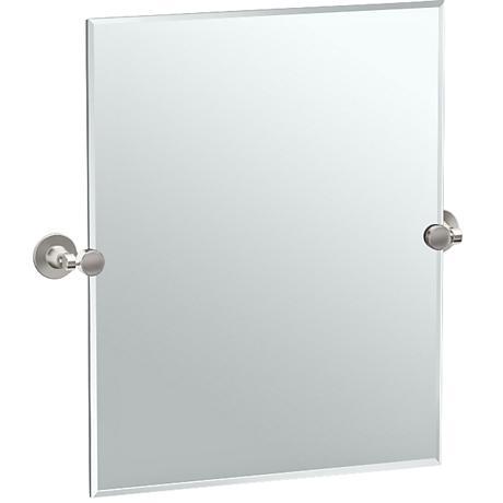 """Gatco Max Satin Nickel 23 1/2"""" x 24"""" Rectangular Mirror"""