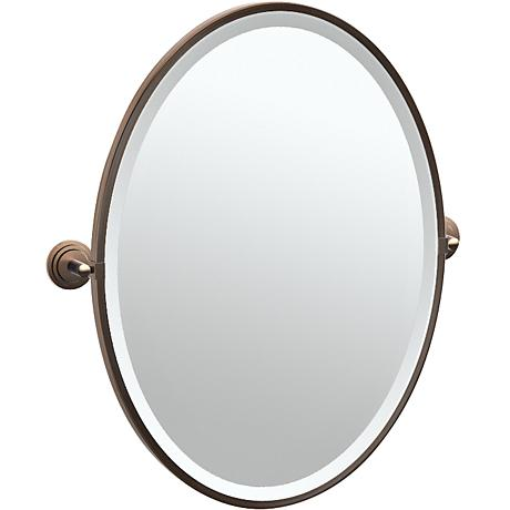 "Gatco Marina Bronze 24 1/2"" x 27 1/2"" Oval Vanity Mirror"