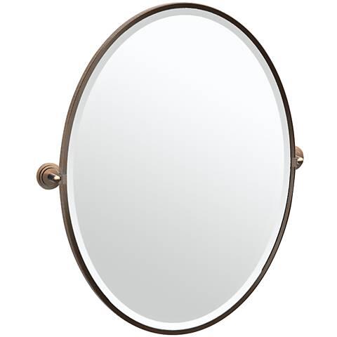 "Gatco Marina Bronze 28 3/4"" x 33"" Oval Vanity Mirror"