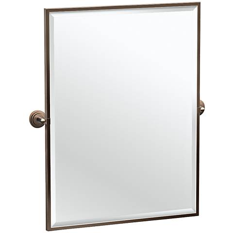 "Gatco Marina Bronze 28 1/4"" x 32 1/2"" Vanity Mirror"