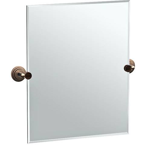 """Gatco Marina Bronze 24 3/4"""" x 24"""" Rectangular Vanity Mirror"""