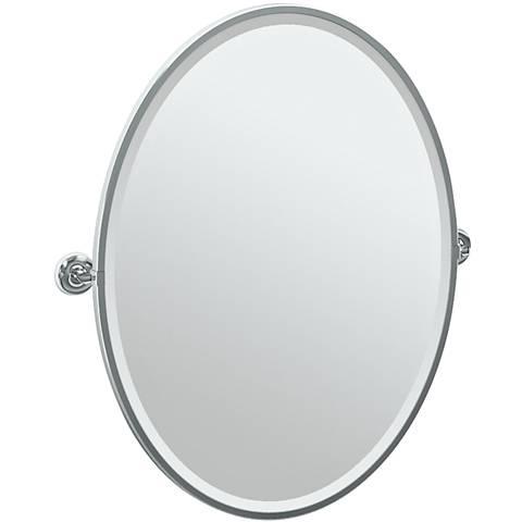 """Gatco Designer II Chrome 29"""" x 33"""" Oval Vanity Mirror"""