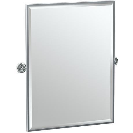 """Gatco Designer II Chrome 28 1/2"""" x 32 1/2"""" Vanity Mirror"""