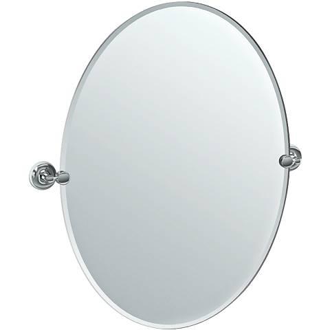 """Gatco Designer II Chrome 28 1/2"""" x 32"""" Oval Vanity Mirror"""