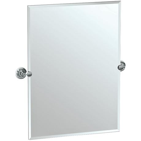 """Gatco Designer II Chrome 28 1/2"""" x 31 1/2"""" Vanity Mirror"""