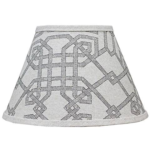 Arbor Stone Gray Lamp Shade 10x18x13 (Spider)