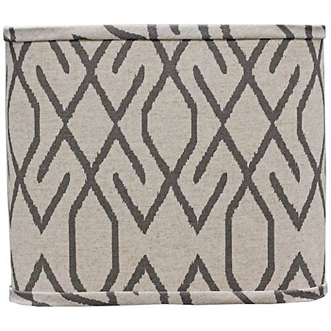 Broken Diamond Gray Linen Lamp Shade 8x14x10.25 (Spider)