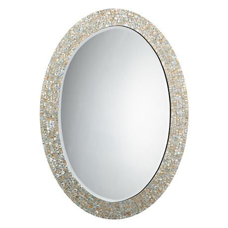 "Jamie Young Mother of Pearl 31 1/2"" x 43 1/2"" Mirror"