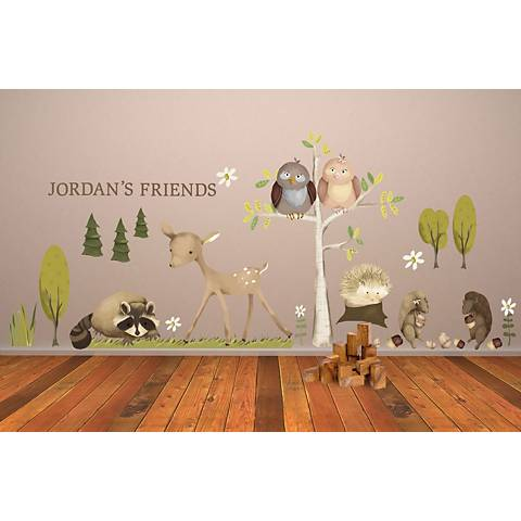 Woodland Friends Fabric Wall Decal Set