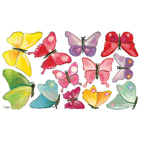 Butterfly Arbor Fabric Wall Decal Set