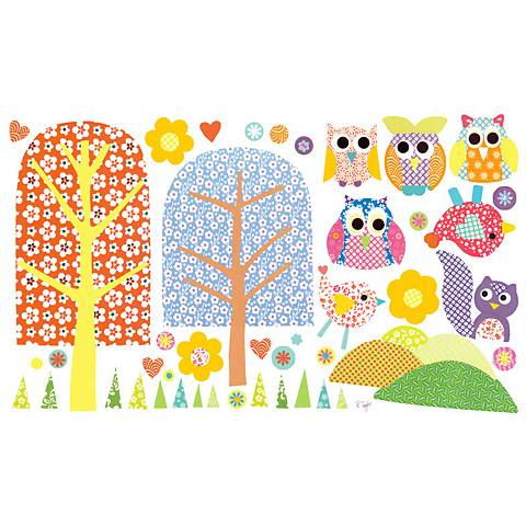 Patterned Park Fabric Wall Decal Set