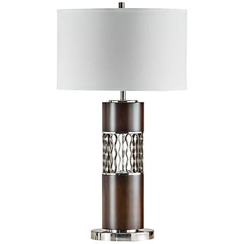 Nova Curls Walnut Modern Table Lamp