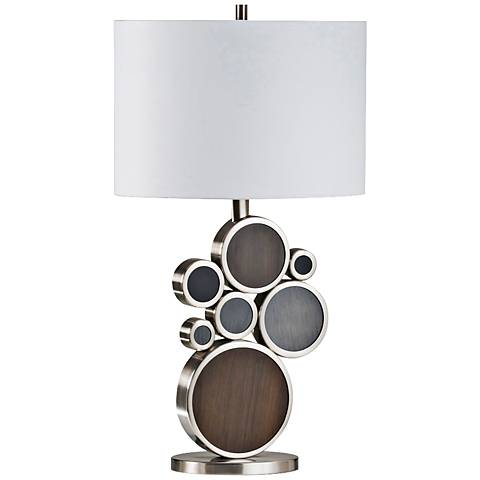 Nova Clouds Charcoal Brown and Pecan Table Lamp