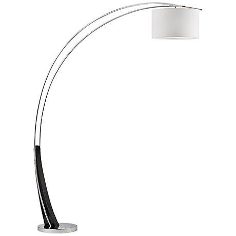 nova toro gloss black modern arc floor lamp 7y543 lamps plus. Black Bedroom Furniture Sets. Home Design Ideas