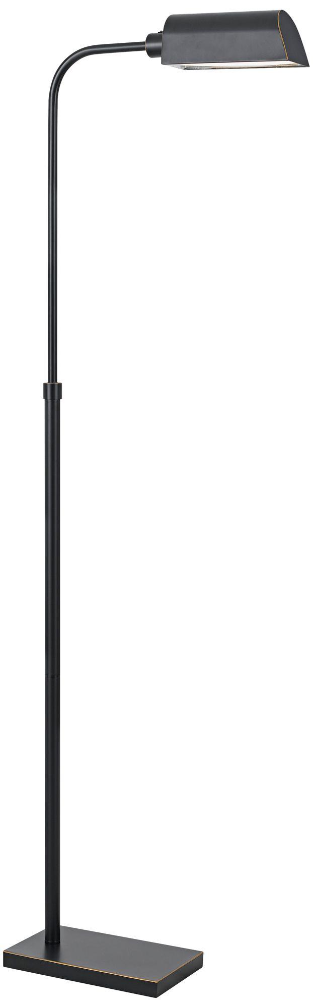 Ned LED Pharmacy Dark Bronze Adjustable Floor Lamp