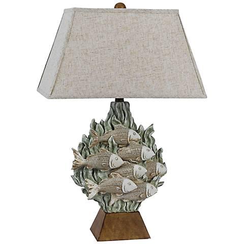 Falmouth Tropical Fish Sand Seaweed Table Lamp