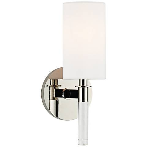 """Hudson Valley Wylie 12"""" High Polished Nickel Wall Sconce"""