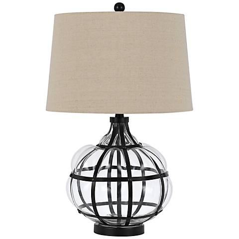 Gordon Glass and Metal Table Lamp