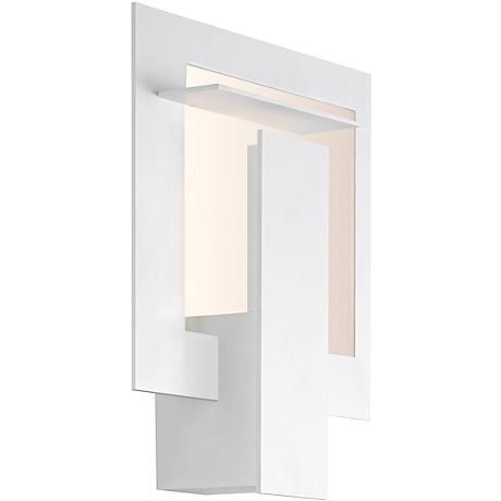 "Sonneman Portal 10 3/4""H Textured White LED Wall Sconce"