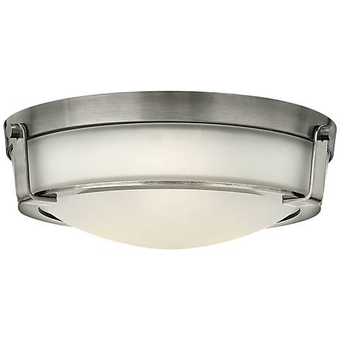 "Hinkley Hathaway 16""W Antique Nickel Etched Ceiling Light"