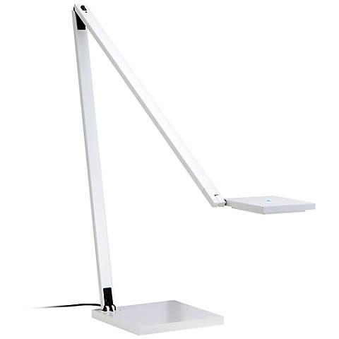 Sonneman Quattro Gloss White LED Task Desk Lamp