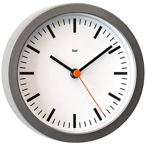 "Studio Railroad White 6"" Round Wall Clock"