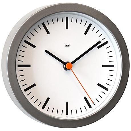 """Studio Railroad White 6"""" Round Wall Clock"""