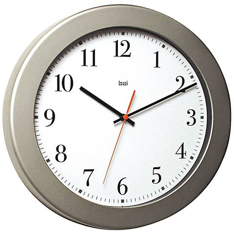 "Madison White 14 1/2"" Round Wall Clock"