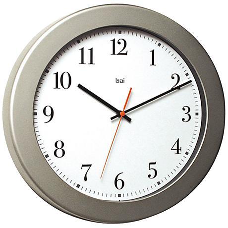 """Madison White 14 1/2"""" Round Wall Clock"""