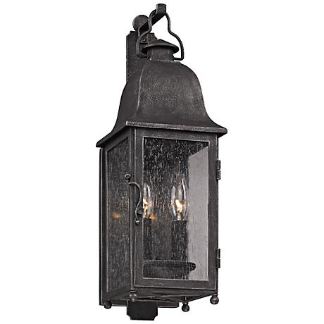 Larchmont 19 High Aged Pewter Outdoor Wall Light