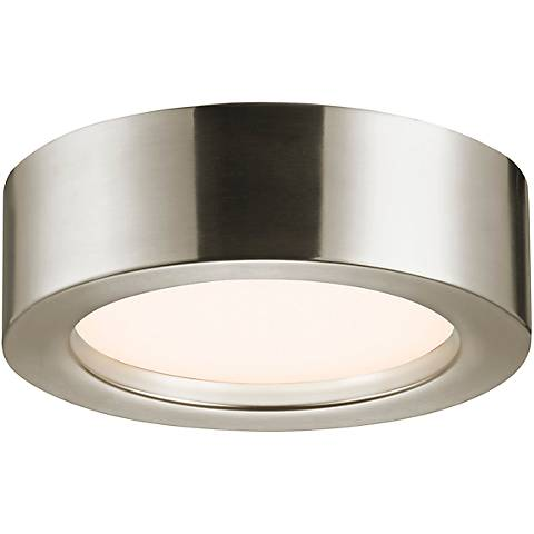 "Sonneman Puck Slim 8""W Satin Nickel LED Ceiling Light"