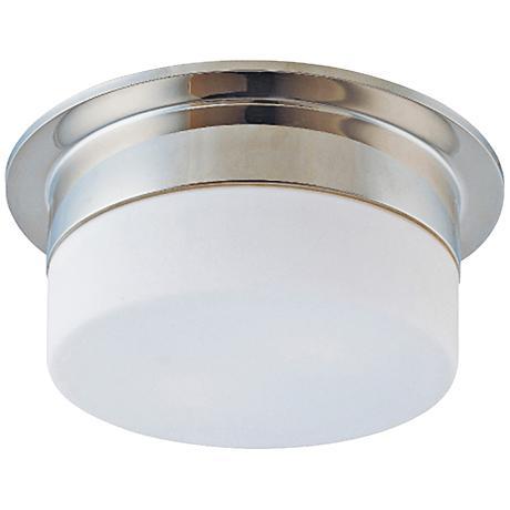 """Sonneman Flange 9"""" Wide Polished Nickel Ceiling Light"""