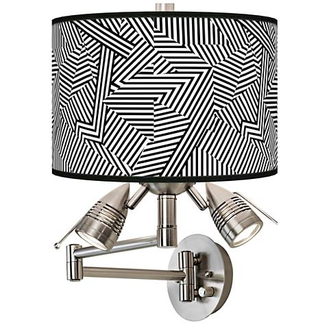 Labyrinth Giclee Swing Arm Wall Lamp
