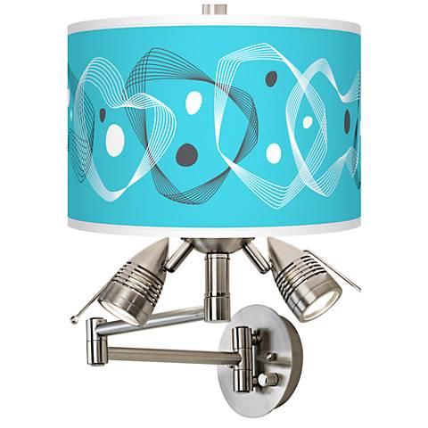 Spirocraft Giclee Swing Arm Wall Lamp