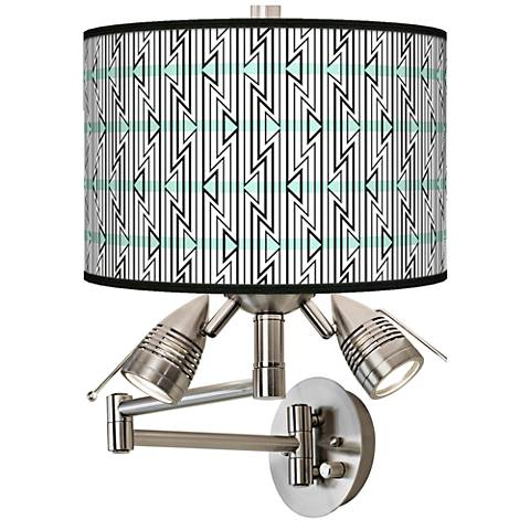 Indigenous Giclee Swing Arm Wall Light