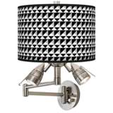 Triangle Illusion Giclee Swing Arm Wall Lamp