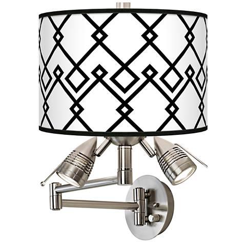 Diamond Chain Giclee Swing Arm Wall Lamp