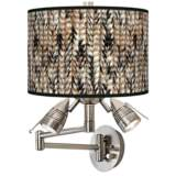 Braided Jute Giclee Swing Arm Wall Lamp