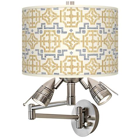 Willow Chinoiserie Giclee Swing Arm Wall Lamp