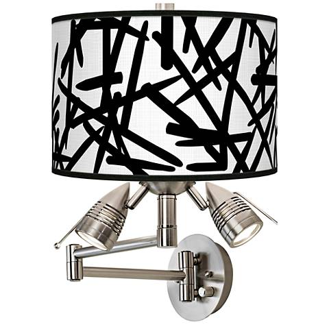 Sketchy Giclee Swing Arm Wall Light