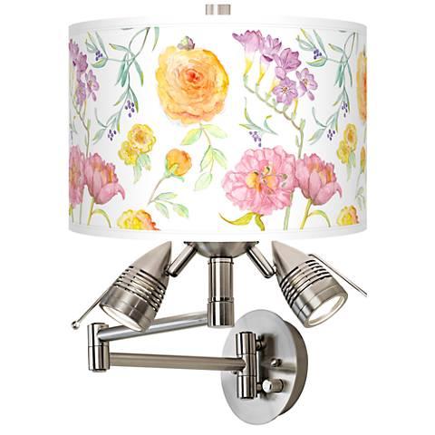 Spring Garden Giclee Swing Arm Wall Light