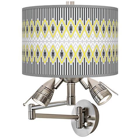 Desert Geometric Giclee Swing Arm Wall Lamp